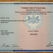 Officially licensed CRNP