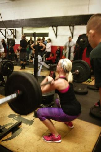 she has only been CrossFitting since the summer!!