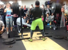 another one of our members killing a 2 rep front squat