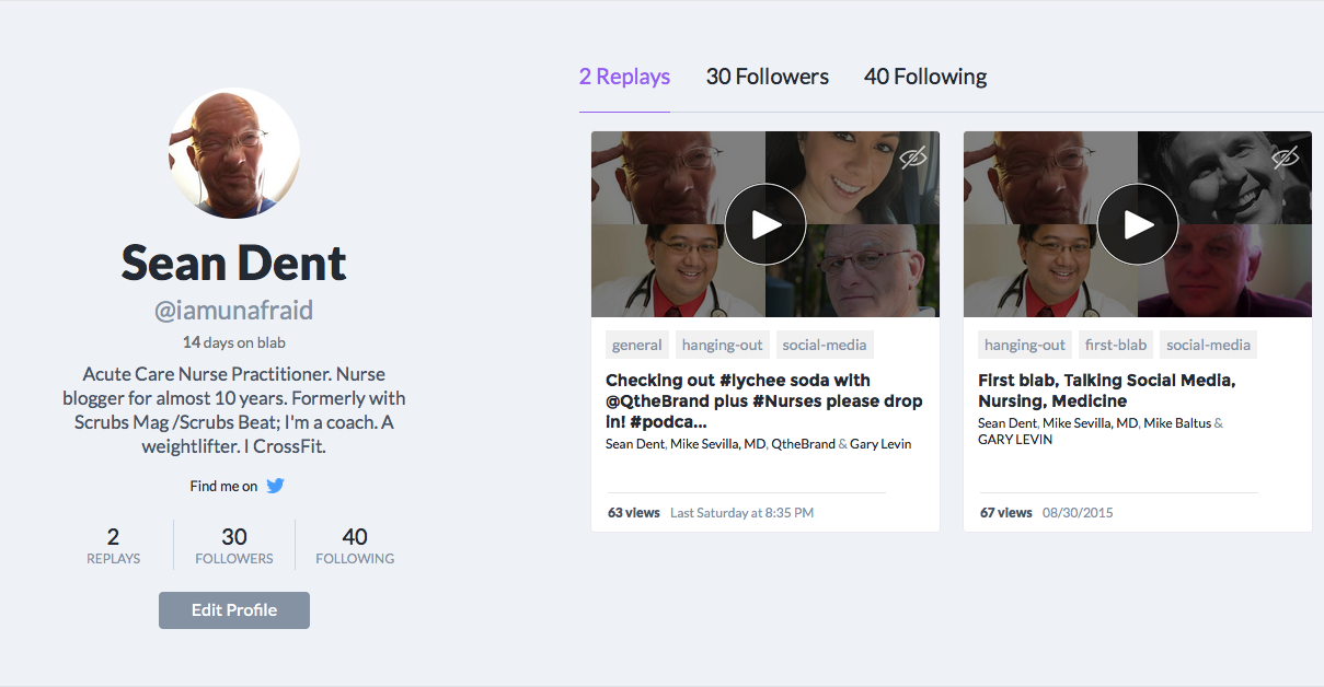 Say Hello to the new video chat App Blab : Twitter +